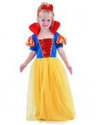 Prinzessinnenkostüm Märchen für Mädchen gelb-rot-blau