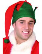 Wichtel Hut Kostümzubehör Weihnachtself rot-grün