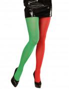 Weihnachts-Elf Strumpfhose für Herren Wichtel 70 Den rot-grün