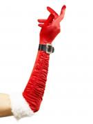 Handschuhe Weihnachtsfrau Weihnachten rot-weiss