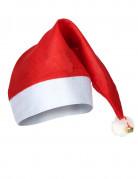 Weihnachtsmütze mit Glöckchen rot-weiss