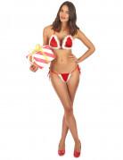 Sexy Weihnachtsfrau-Bikini Weihnachts-Unterwäsche 2-teilig rot-weiss