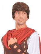 Römer-Herrenperücke Gladiator braun