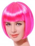 Karneval Damen-Perücke Pagenschnitt pink