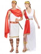 Römer-Paarkostüm Fasching weiss-rot-gold