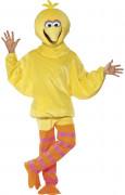 Sesamstraße Bibo Comic Lizenz Kostüm gelb-pink-orange