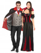 Vampir-Paar - Halloween-Kostüm für zwei Erwachsene - schwarz-rot