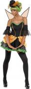 Rebel Toons Pumpkin Kürbis Fee Damen-Kostüm schwarz-orange-grün