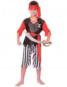 Wilder Seeräuber Piraten-Kinderkostüm schwarz-rot-weiss