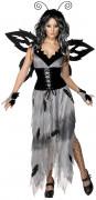 Gothic Manor Sinister Waldfee Damen-Kostüm schwarz-grau