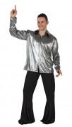 Disco-Herrenhemd silber