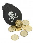 Geldbeutel Pirat in Schwarz