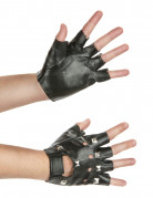 Punk Nietenhandschuhe schwarz-silber