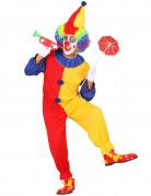 Clown-Herrenkostüm rot-gelb-blau