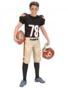 Football Spieler Kinderkostüm beige-schwarz