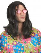Perücke Hippie in Schwarz für Herren