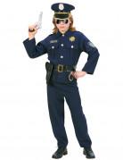 Polizisten-Jungenkostüm Uniform blau