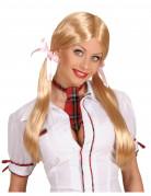 Schulmädchen Perücke Kostüm-Zubehör blond