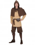 Mittelalterlicher Bauer Knecht Kostüm braun