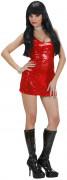Pailletten-Kleid Showgirl Damenkostüm rot