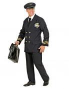 Pilot Kostüm dunkelblau-gold