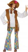 Hippie Karneval Damen-Kostüm bunt