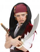 Piraten-König Kinder-Perücke schwarz