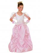 Prinzessinnenkleid Märchenprinzessin Deluxe rosa-weiss
