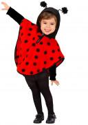 Marienkäfer Plüsch-Poncho Kinderkostüm rot-schwarz