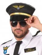 Pilotenmütze schwarz-gold