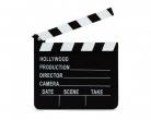 Kino-Filmklappe schwarz-weiß
