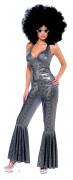 Disco Kostüm Bodysuit 70er silber