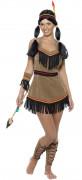 Indianerin Kostüm braun