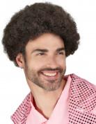Disco Minipli Afro-Perücke braun