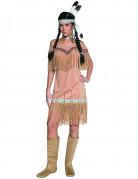 Indianerin Kostüm braun-beige