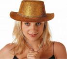 Goldener Wildwesthut für Damen
