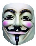 V wie Vendetta Maske Kostümmaske beige-schwarz-rosa
