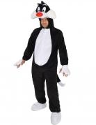 Sylvester Kostüm KaterLizenzware grau-weiss