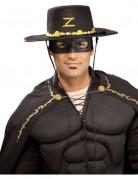 Kostüm-Set Zorro für Erwachsene schwarz