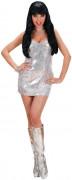 Pailletten-Kleid Showgirl Damenkostüm silber