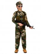 Gefährlicher Soldat Kinderkostüm Militär grün-braun