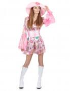 70er Disco Damenkostüm pink