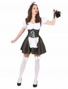 Zimmermädchen-Damenkostüm Hausfrau schwarz-weiss