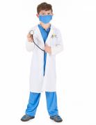 Arzt Kinderkostüm blau-weiss
