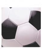 Fussball Servietten Party-Deko 16 Stück schwarz-weiss 16x16cm