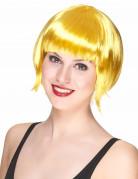 Pagenschnitt Damenperücke Karneval gelb