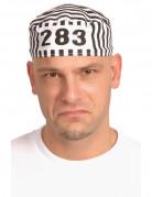 Gefangenenmütze Erwachsene schwarz-weiß