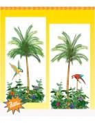 Hawaii Palmen Wanddeko 2-teilig grün-bunt