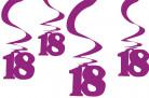 Hängedekorationen für den 18. Geburtstag