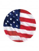 Amerika-Teller Länder-Tischdeko 8 Stück blau-weiss-rot 18cm